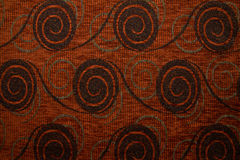 Textile fabric texture Anemon 05 Rust brown color Stock Image
