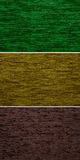 Textile fabric texture shades of green color Stock Photos