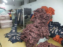 Textile Factory in India Stock Photo