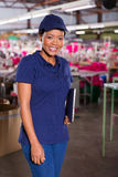 Textile factory supervisor Stock Photo