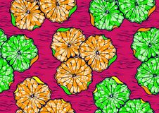 Textile fashion african print fabric super wax vector illustration