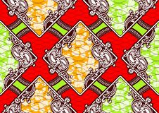 Textile fashion african print fabric super wax. Textile fashion, african print fabric, abstract seamless pattern, vector illustration file stock illustration