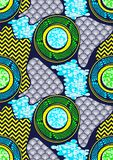 Textile fashion african print fabric super wax. Textile fashion, african print fabric, abstract seamless pattern, vector illustration file royalty free illustration