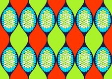 Textile fashion african print royalty free illustration