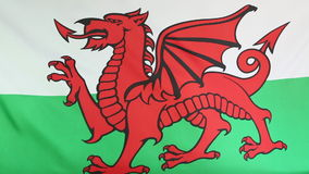 Textile flag of Wales