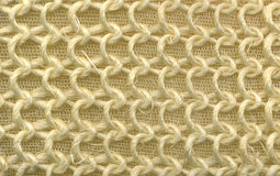 Textile flax fabric wickerwork texture background Royalty Free Stock Images