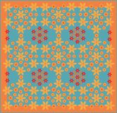 Textile floral pattern Royalty Free Stock Photos
