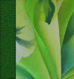 Textile flower background with the sewn  tape Royalty Free Stock Photos