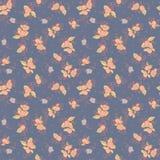 Textile flower seamless pattern. Textile flower blue seamless pattern Royalty Free Stock Photos
