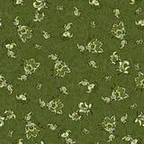 Textile flower seamless pattern. Textile flower green seamless pattern Royalty Free Stock Photos