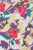 Textile, flowers on a pale background Royalty Free Stock Images