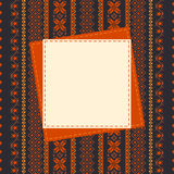 Textile frame template Stock Images