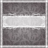 Textile frame in vintage style Stock Image