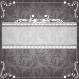 Textile frame in vintage style Stock Photography