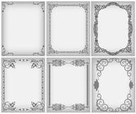 Textile frame in vintage style set Stock Image