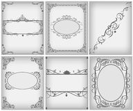 Textile frame in vintage style set Royalty Free Stock Photography