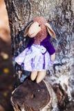 Textile handmade sheep in dress Royalty Free Stock Photos