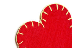 Textile heart Royalty Free Stock Photos