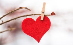 Textile heart Royalty Free Stock Images