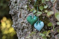Textile hearts Royalty Free Stock Photos
