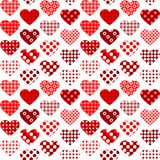 Textile hearts with polka dots seamless. Textile heartswith polka dots , seamless vector art illustration for valentine`s day Royalty Free Stock Image