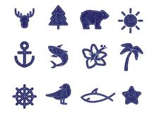 Textile icons Royalty Free Stock Image