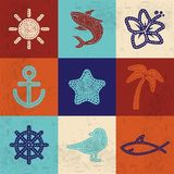 Textile icons Stock Images