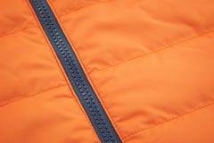 Textile imperméable orange avec le fond zip-lock Images libres de droits
