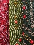 Textile indien, plan rapproché Image libre de droits