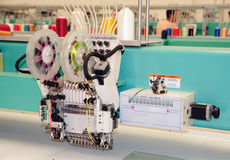 Textile: Industrial Embroidery Machine Stock Photography