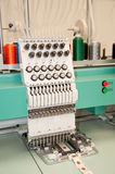 Textile: Industrial Embroidery Machine Stock Image