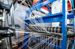 Textile industry. Weaving and warping Royalty Free Stock Photography