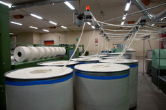 Textile industry - Carding department Stock Image
