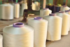 The textile industry factory, manufacture of rope Stock Photography