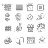 Textile Industry Icons Set Royalty Free Stock Photography