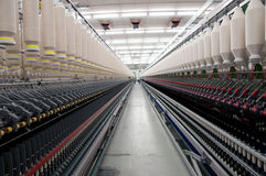 Textile industry - Spinning Royalty Free Stock Image