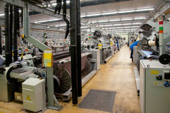 Textile industry - Weaving and warping Stock Photos