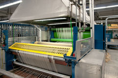 Textile industry - Weaving and warping Stock Photo