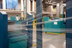 Textile industry - Weaving and warping Stock Photography