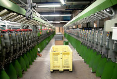 Textile industry - Weaving and warping Royalty Free Stock Images
