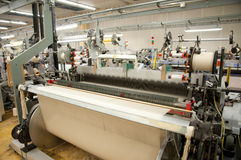 Textile industry - Weaving and warping Royalty Free Stock Photography