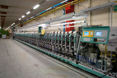Textile industry - Winding Stock Image
