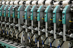 Textile industry - Winding Royalty Free Stock Images