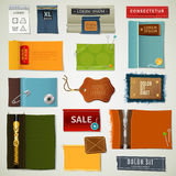 Textile Labels Set Royalty Free Stock Images