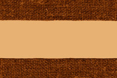 Textile linen, fabric string, umber canvas, grained material, flat background Royalty Free Stock Photography