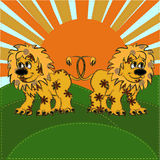 Textile lion Stock Image