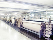 Textile Looms at Production Royalty Free Stock Photography
