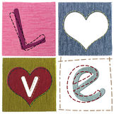 Textile love letters Royalty Free Stock Photography