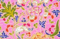 Textile lumineux abstrait en batik Images libres de droits
