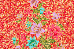 Textile lumineux abstrait en batik Photos libres de droits